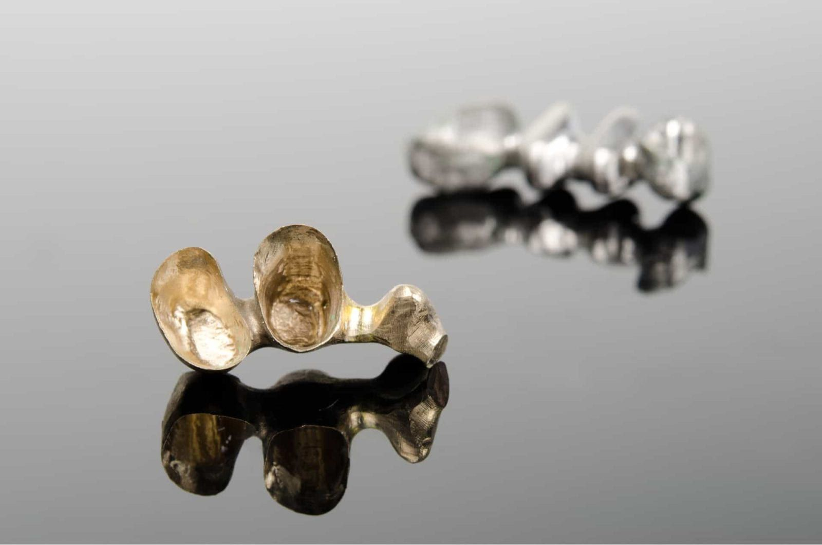 isolated gold alloy on isolated background